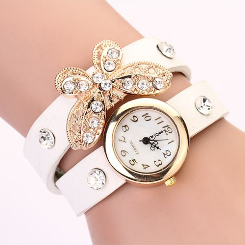 Cheap dress women, Buy Quality dress table directly from China dress business Suppliers: PL127 2014 New women vintage leather strap watches,set auger angel wings rivet bracelet women dress watch wristwatch HOT