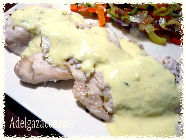 Recetas Light - Adelgazaconsusi: Perca son salsa de yogur y verduras,con receta.