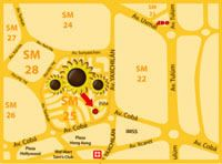Hotel Los Girasoles Cancun - Map