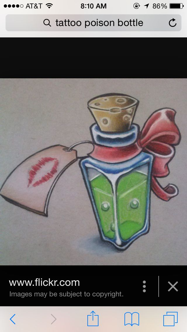 Poison Tattoo Bottle  Tattoos I Want Pinterest