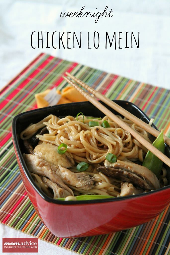 Easy Weeknight Chicken Lo Mein from MomAdvice.com.