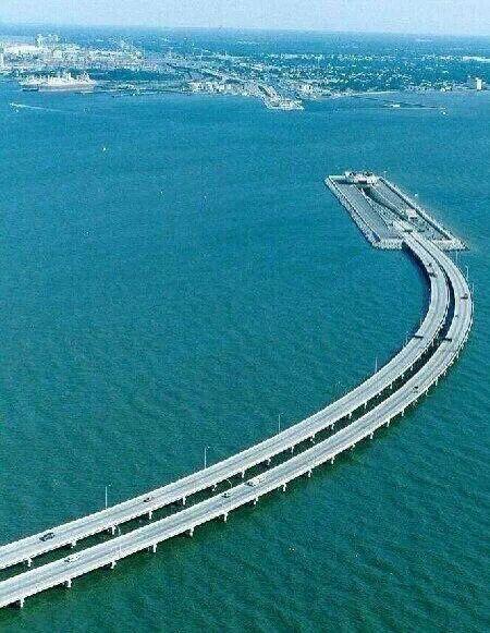 Underwater bridge sweden - denmark