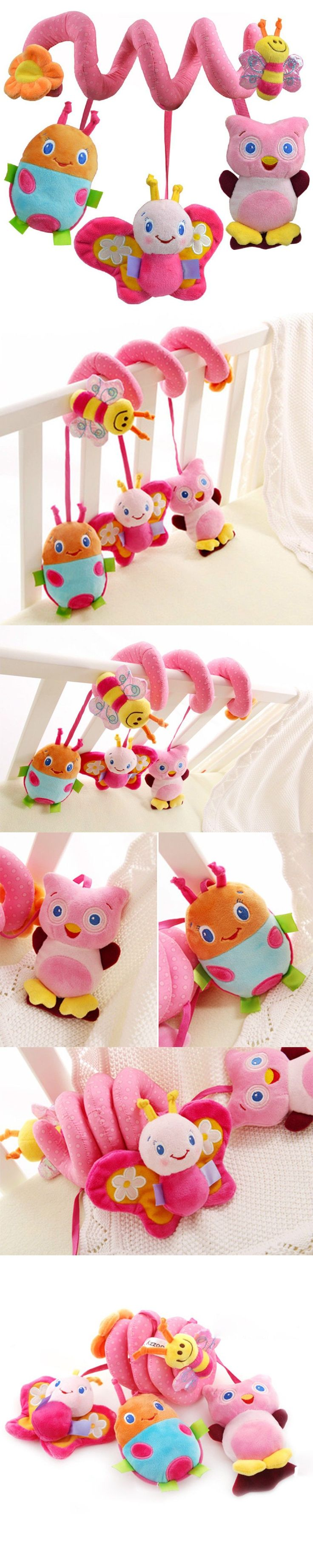 HOT Sale Baby Cot Spiral Activity Hanging Decoration Toys for Cot/Car Seat/Pram Gifts baby toys 0-12 months