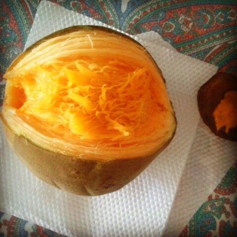 Zapote - colombiansk frugt. Meget lækker!