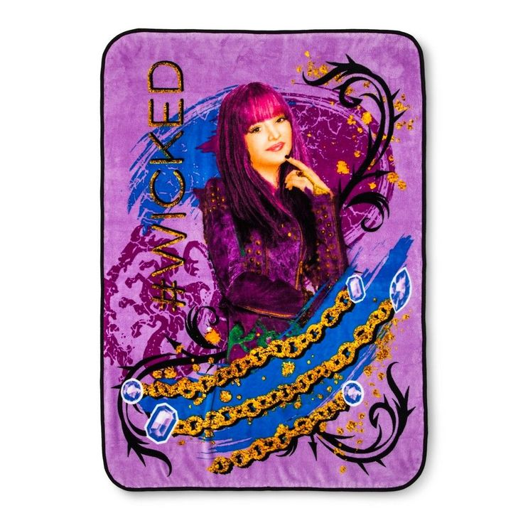 "Descendants 2 Purple Throw Blanket (46""x60"")"
