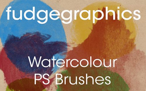 Fudgegraphics Watercolor brushes