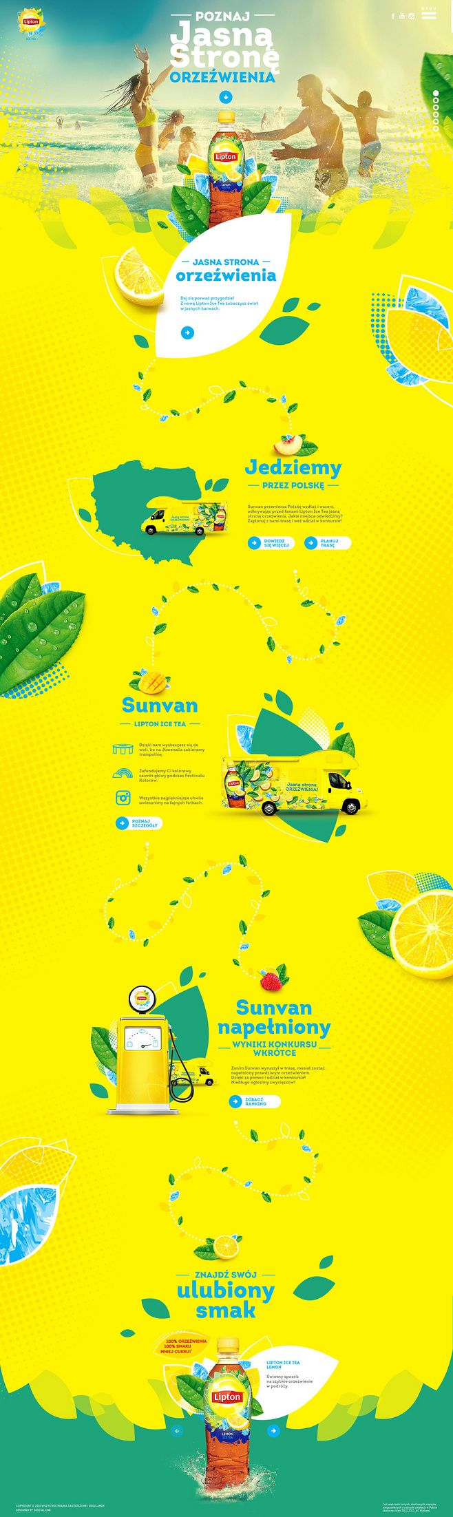 Lipton Ice Lemon Tea. Fresh and lemon-ish. #webdesign (Join design group board…