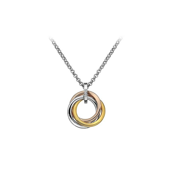 33 best hot diamonds jewellery images on pinterest diamond a sterling silver rose and yellow gold plated knot pendant suspended from a 16 to extendable chain supplied in a hot diamonds gift box aloadofball Image collections