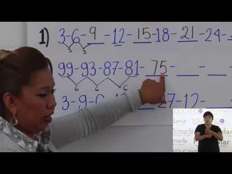 Primaria 3º y 4º clase: 33 Tema: Sucesiones compuestas por números - YouTube