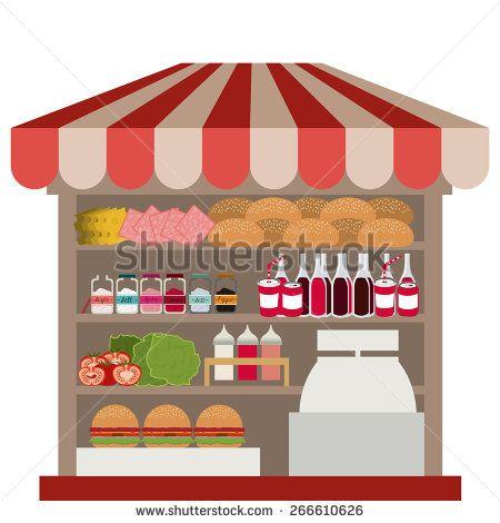 Small business design over white background, vector illustration - stock vector