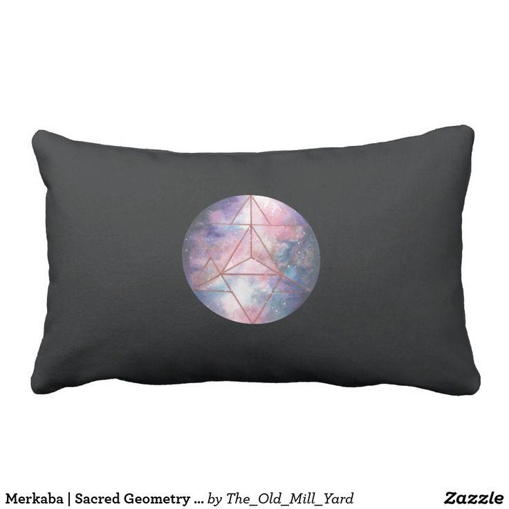 Merkaba | Sacred Geometry Pillow by Kari Weatherbee