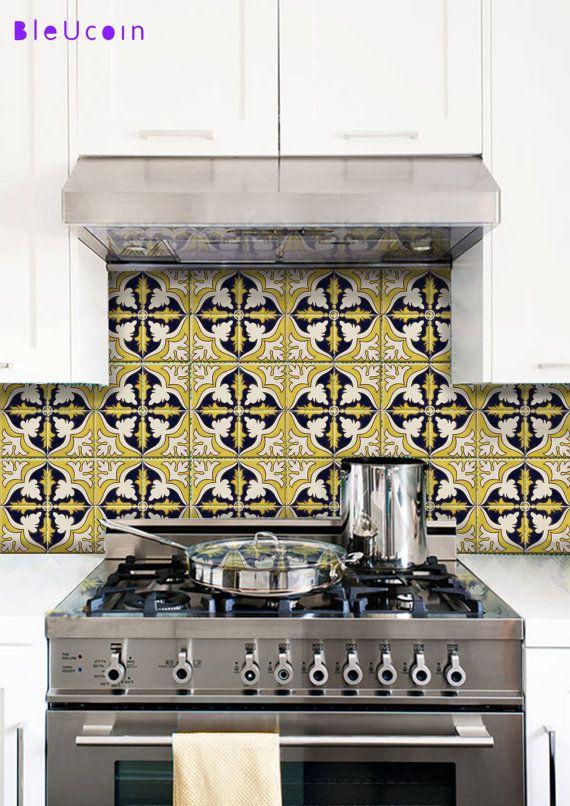Best Tile Decalsstickers Images On Pinterest Tile Decals - Custom vinyl wall decals for kitchen backsplash