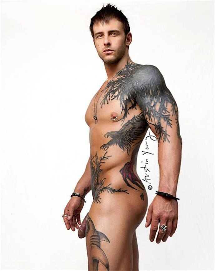 Sexy naked tattooed men gifs