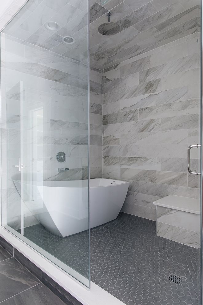 Shower With Freestanding Tub The Master Bathroom Also Features A