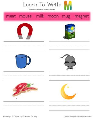 Learning to write kindergarten