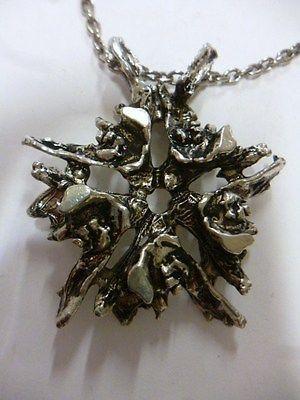 Tapani Vanhatalo, vintage modernist pewter (tin) pendant, 1970's. #Finland #jewelry #eBay