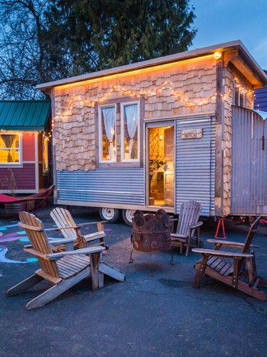 Say hello to your new favorite vacation spot—a tiny house hotel in Portland, OR
