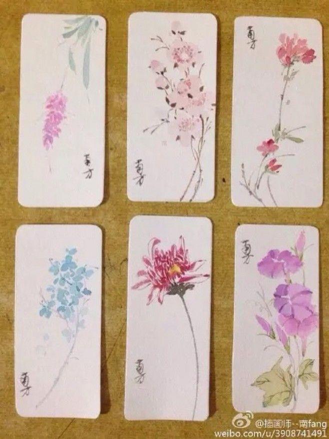 水彩 书签 花系列@入骨相思知否采集到偏爱水彩(45图)_花瓣