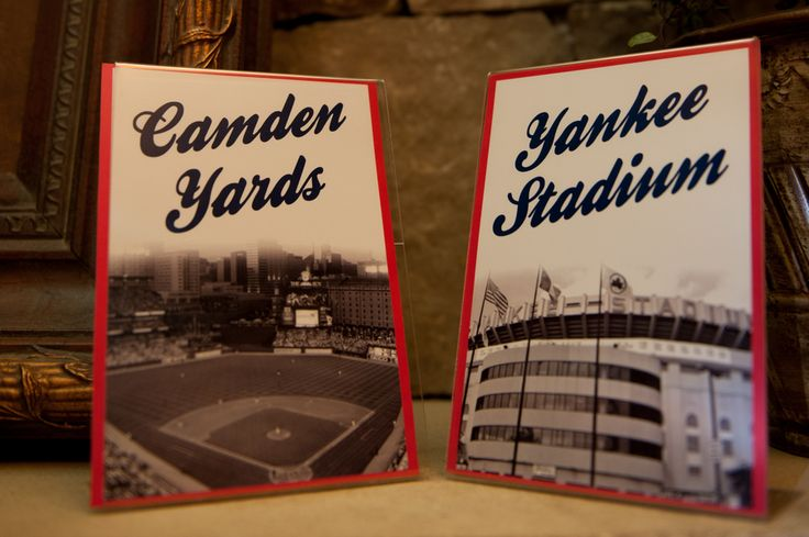 Each table was named after a major league stadium at this baseball-themed wedding