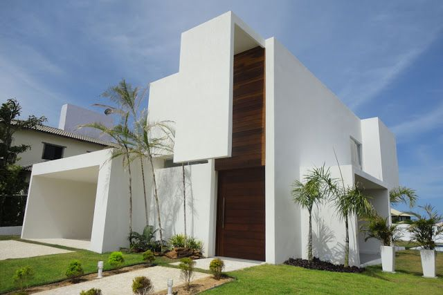 17 best images about fachadas on pinterest madeira - Entrada de casas modernas ...