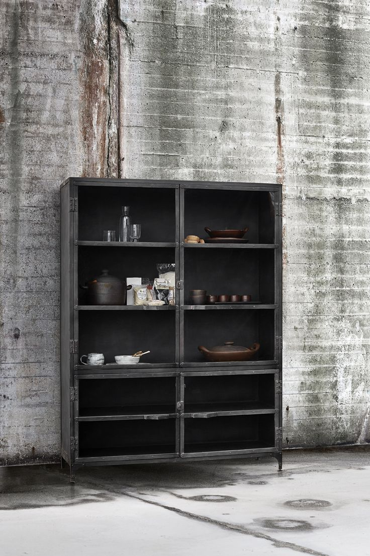 Want a raw touch in your home? This industrial iron cabinet from Muubs is available in different sizes.