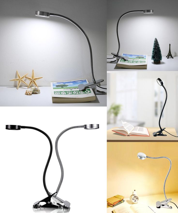 [Visit to Buy] Modern LED Table Lamps Creative Reading Desk Lamps Bedside Lamp Eye Protection led 6W Flexible With Clip Warm/White in one Light #Advertisement