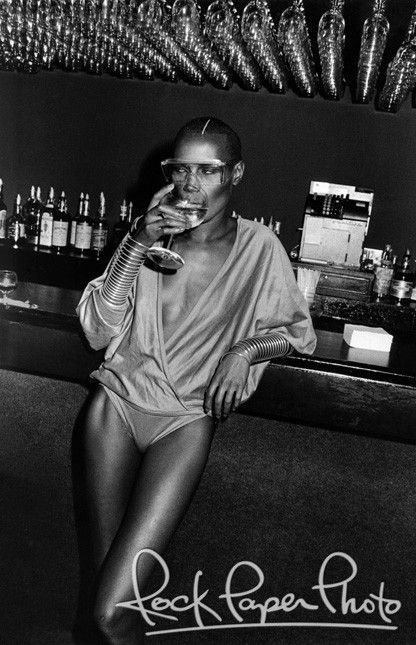 Grace Jones at Studio 54 in NYC- LOVE this for badass/nonchalant/not trying too hard cover shot in fab outfit!!