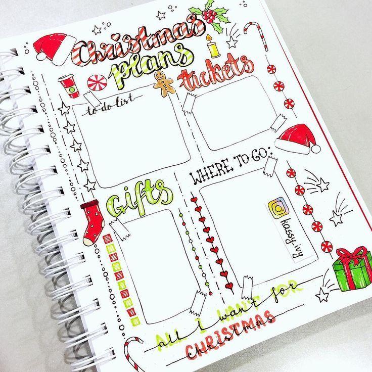 Weihnachten steht vor der Tür, es ist Zeit, Ihr Bujo zu organisieren und zu dekorieren: voic …