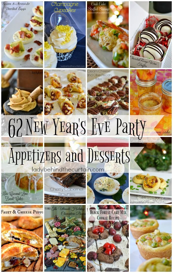 62 New Year S Eve Party Etizers And Desserts