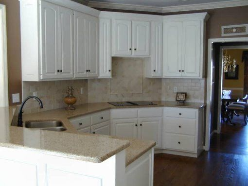 Beautiful Neutral Quartz Countertops Paired With White Cabinets | Quartz Countertops