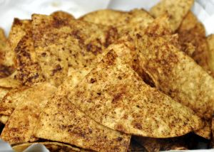 Cocoa Spiced Tortilla Chips  Use Dove Chocolate Discoveries to make these chips to add an extra kick to any salsa or dip!