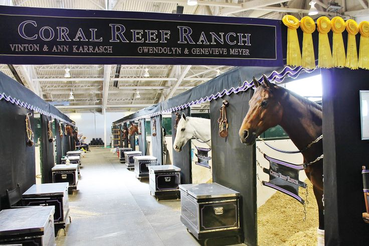 Fabulous Set Up By Coral Reef Ranch Horse Show Set Ups