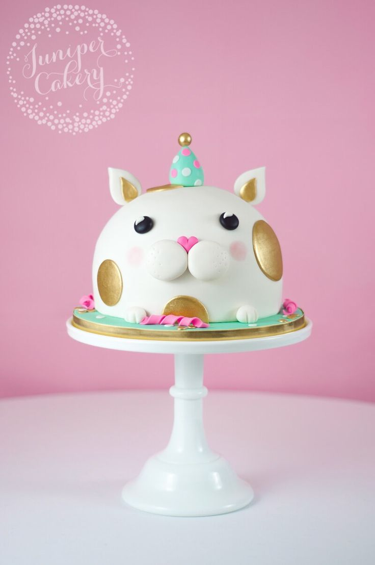 Kitty cake by Juniper Cakery and like OMG! get some yourself some pawtastic adorable cat apparel!