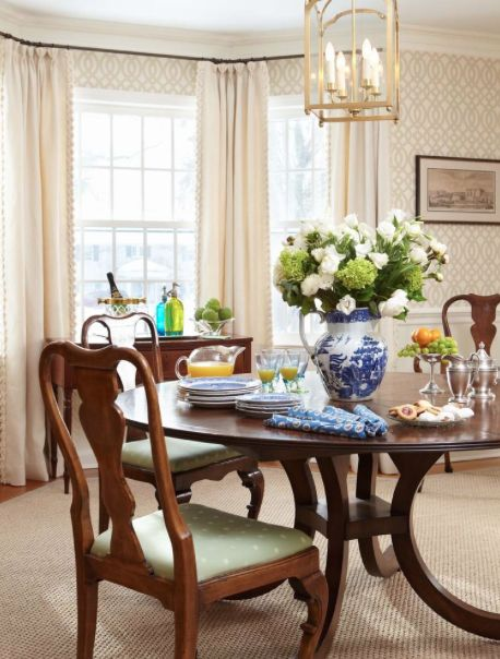 Traditional Home Dining Room Wallpaper Design Pictures Remodel Decor And Ideas