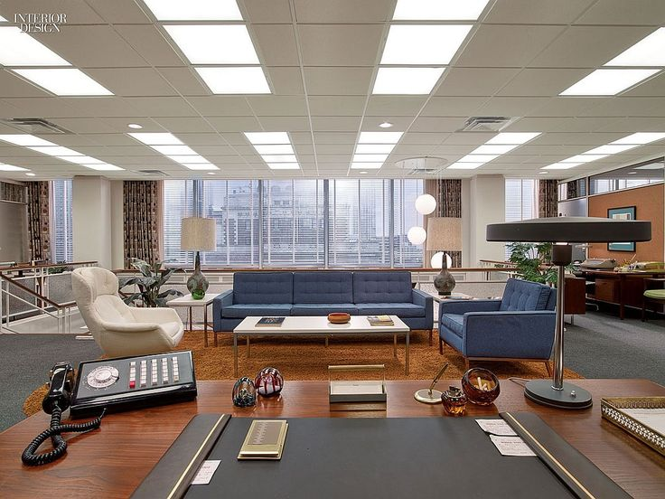 From the Sets of Mad Men - with the exception of the curtains and dial phone, this could almost be a current office!