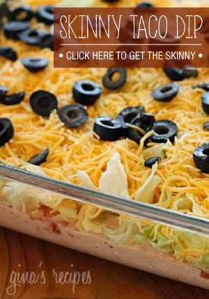 This Skinny Taco Dip is a perfect appetizer for any party! Check out this recipe from Skinnytaste.com