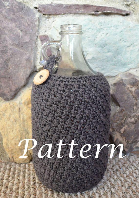 Instant Download Beer Growler Cozy Crochet by MontanaDaisyGirl