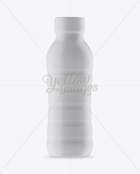 PET Bottle In Matte Shrink Sleeve Mockup - Front View