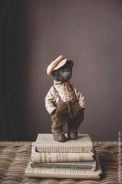 Василий Палыч - чёрный,моряк,мишки тедди,мишка ручной работы,якорь,кепка