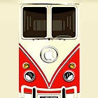 Red Volkswagen VW cartoons iphone 4 4s, iPhone 3Gs, iPod Touch 4g case by Pointsale Store