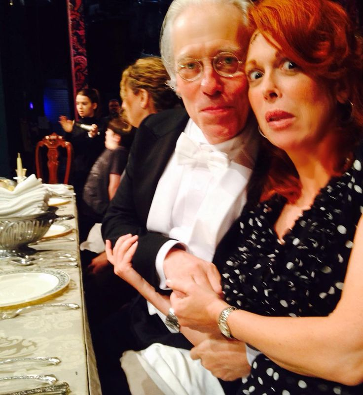 "Carolee Carmello via Instagram - 26 Sept 2015 - ""Flash back??? PTSD??? Terry Mann and I back at the Lunt-Fontanne sitting at a long dinner table AGAIN! #fulldisclosure #Addams #reunited"""