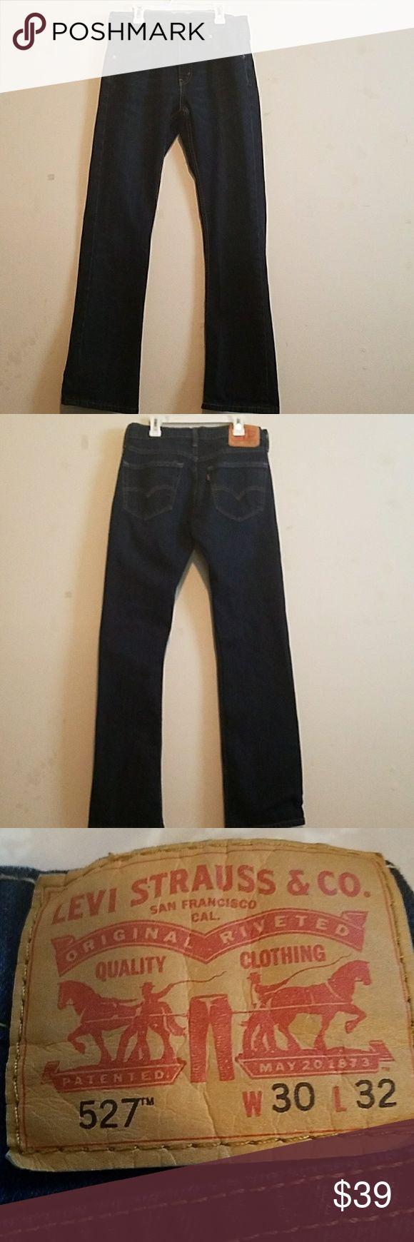 Levi's Men's 527 Slim Bootcut Jean 30Wx32L Dark wash, 5 pocket, worn 3 times Levi's Jeans Bootcut