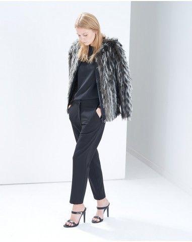 Faux Fur Grey Bomber Jacket
