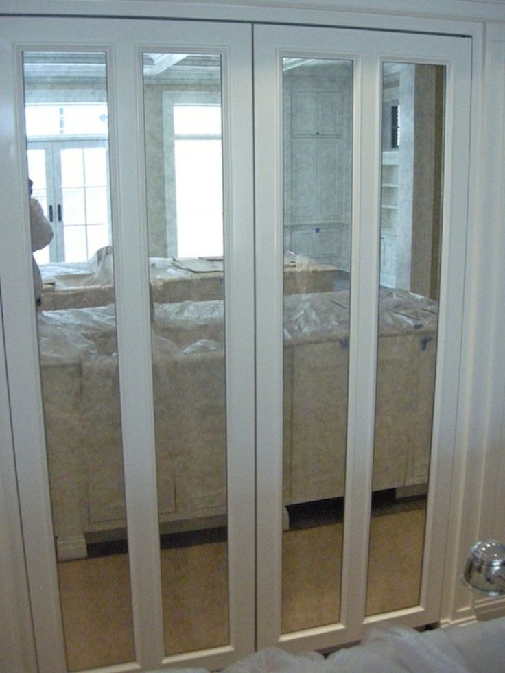 16 Easy Diy Home Upgrades For A Sexy Living Space On Any Budget Mirrored Bifold Closet Doorsfolding