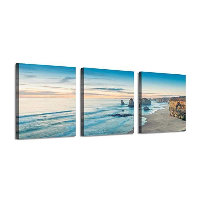 Amazon Com Beach Scene Picture Seascape Art Ocean Water Artwork