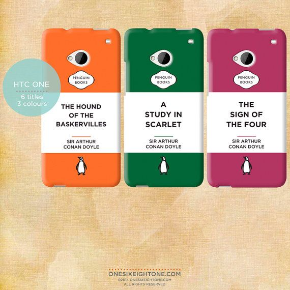 Penguin Book Phone Cover : Sherlock penguin books phone case schnazzy things