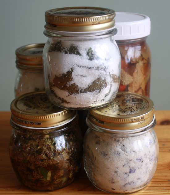 How to Preserve Herbs with honey, salt, sugar, oil, and vinegar