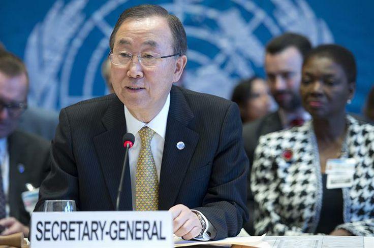El secretario general de la ONU, Ban Ki-Moon, inauguró la Conferencia Ginebra II, donde participan más de 40 delegaciones con el objetivo de buscar una solución negociada al conflicto desatado hace tres años en Siria. (Foto: EFE)