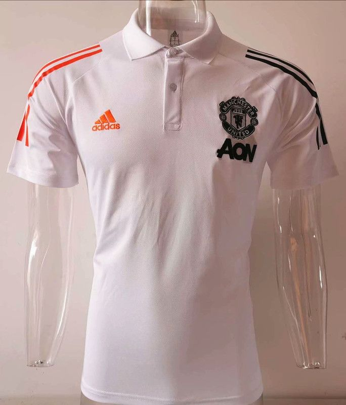 2020 2021 Manchester United White Thailand Polo In 2020 White Polo Shirt Polo Shirt Manchester United