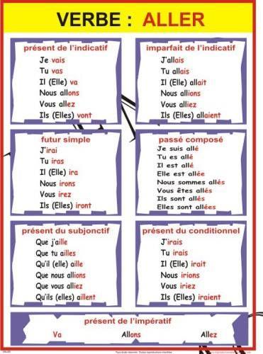 CONJUGAISON du verbe ALLER